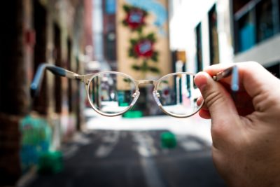 Vision through reading glasses